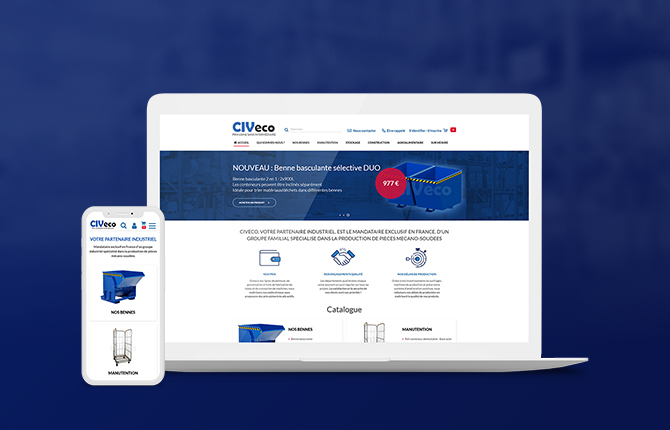 B2C website for CIVeco